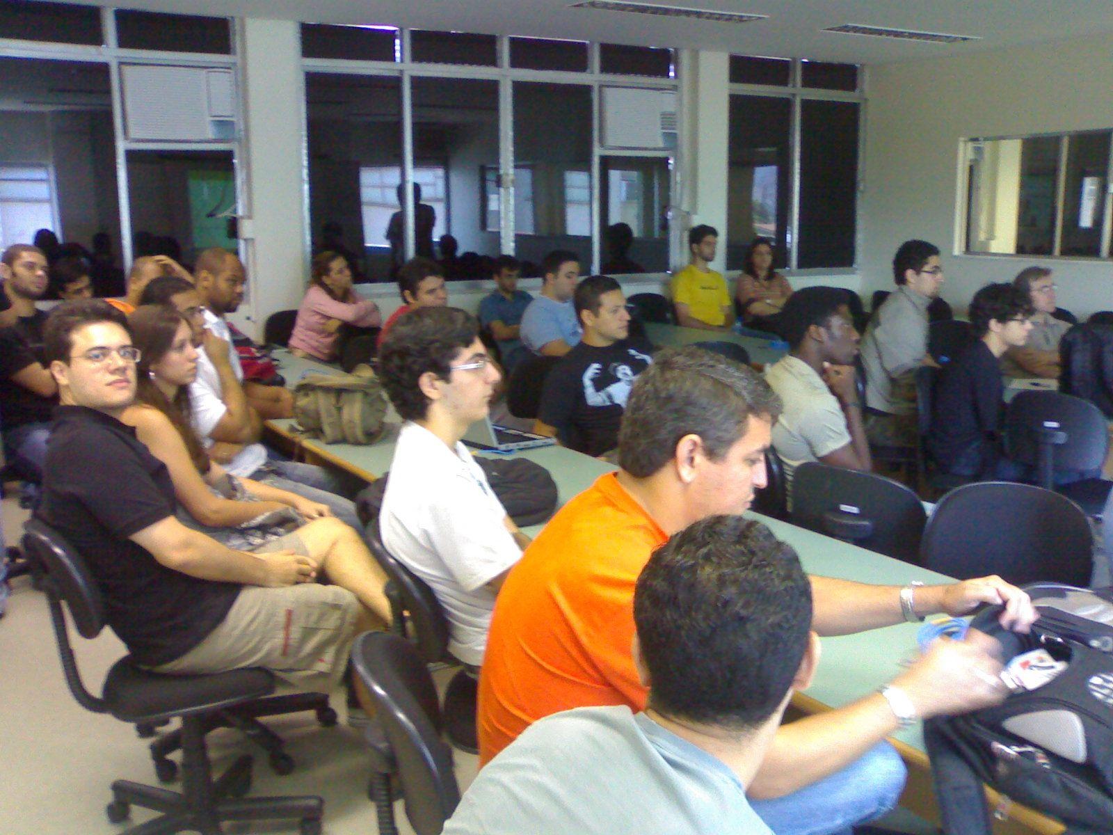 Público na palestra